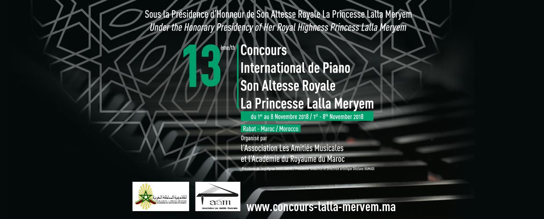 13ème Concours International de Piano S.A.R la Princesse Lalla Meryem